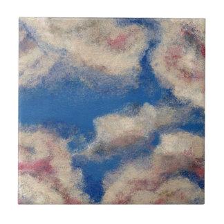 DEEP BLUE SKY ~ SMALL SQUARE TILE