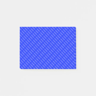 Deep Blue | Small White Text Post-it Notes