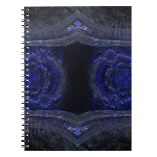 Deep Blue Something Abstract Digital Art Spiral Notebooks