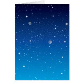 Deep Blue Starry Night Sky Greeting Card