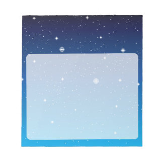 Deep Blue Starry Night Sky Notepad