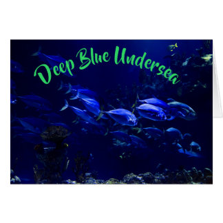 Deep Blue Undersea Tropical Fish Card