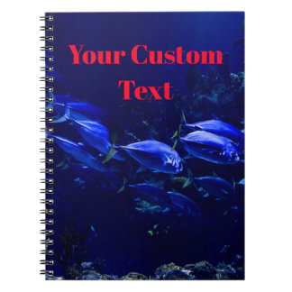 Deep Blue Undersea Tropical Fish Notebook