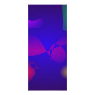 Deep Blue Unstable Abstract Composition Full Color Rack Card
