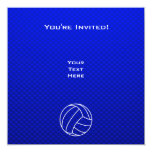 Deep Blue Volleyball 13 Cm X 13 Cm Square Invitation Card