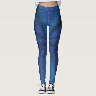 Deep blue vortex leggings