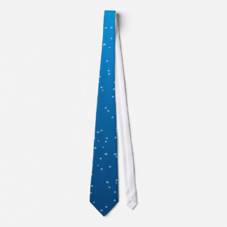 Deep Blue Water and Tiny Bubbles Tie