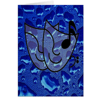 Deep Blue Water Droplets Cards