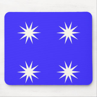 Deep Blue White Star Mouse Pad