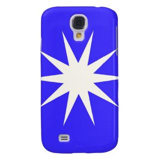 Deep Blue White Star Samsung Galaxy S4 Cases