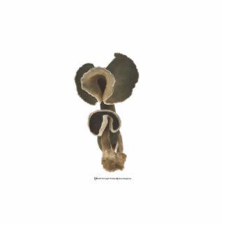Deep Brown Mushrooms Sculpture Cut Out