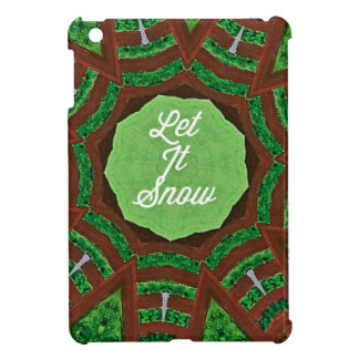 Deep Burnt Orange Green 'Let It Snow' Cover For The iPad Mini