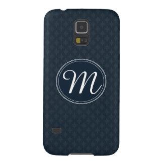 Deep Classic Navy Custom Monogram Galaxy S5 Case