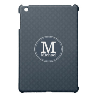 Deep Classic Navy Custom Monogram iPad Mini Cover