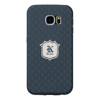 Deep Classic Navy Custom Monogram Samsung Galaxy S6 Cases