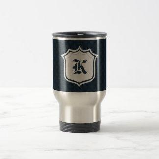 Deep Classic Navy Custom Monogram Travel Mug