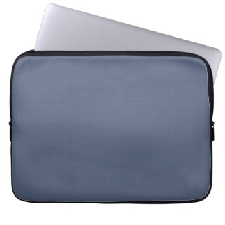 Deep Confederate Blue Color Trend Blank Template Laptop Computer Sleeves