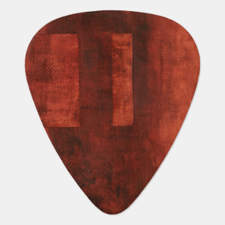 Deep Crimson Painting with Geometric Shapes Plectrum
