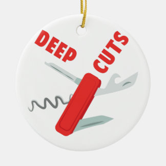 Deep Cuts Ceramic Ornament