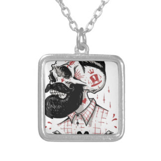 Deep Cuts Silver Plated Necklace