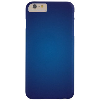 Deep Dark Blue Grainy Vignette Barely There iPhone 6 Plus Case
