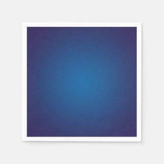 Deep Dark Blue Grainy Vignette Disposable Napkin