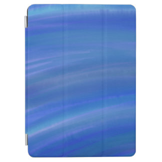 "Deep dark blue ocean watercolor Apple 9.7"" iPad"