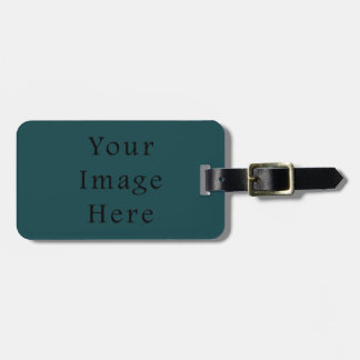 Deep Emerald Green Color Trend Blank Template Bag Tag