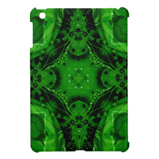 Deep Emerald Green Cross Shaped Design iPad Mini Covers