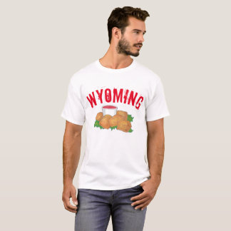 Deep Fried Rocky Mountain Prairie Oysters Wyoming T-Shirt
