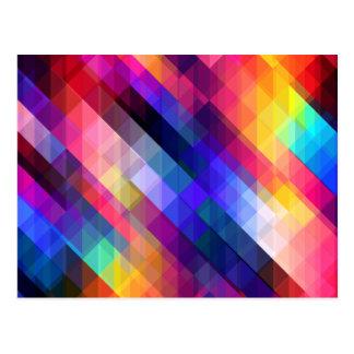 Deep Geometric Tetris Squares - Modern Pattern Postcard