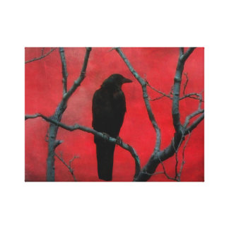 Deep Gothic Red Gallery Wrap Canvas