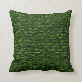 Deep Green Brick Pattern Lumbar and Throw Pillows