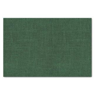 Deep Green Burlap Texture Tissue Paper