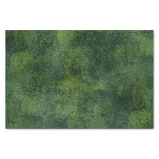 Deep Green Rustic Texture Tissue Paper