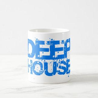 deep house music dj cup or mug blue design