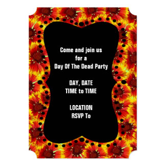 Deep In Marigolds DOD Party Invitations