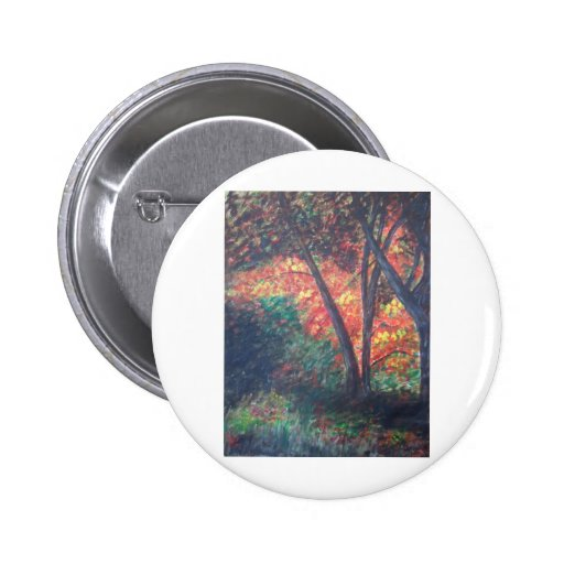 Deep in the Autumn Woods Button