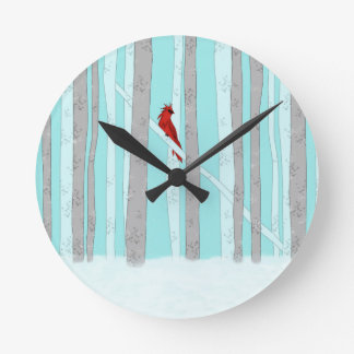 Deep In The Forest Round Clock