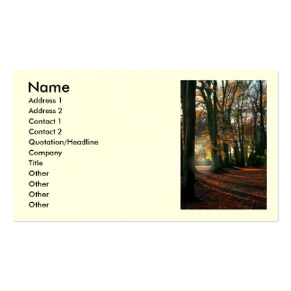 Deep In The Heart Business/Profile Cards Business Card Template