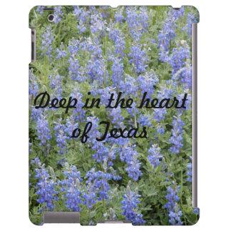 """""""Deep in the heart of Texas"""" bluebonnet iPad case"""