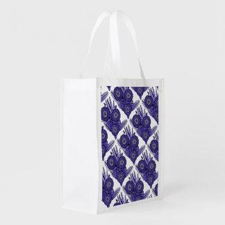 Deep Lavender Gerbera Daisy Flower Bouquet Reusable Grocery Bag