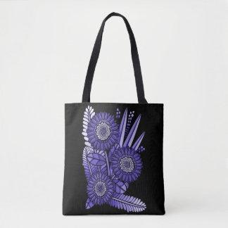 Deep Lavender Gerbera Daisy Flower Bouquet Tote Bag