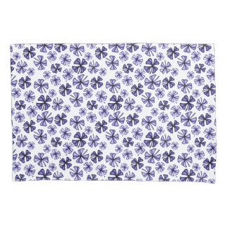 Deep Lavender Lucky Shamrock Clover Pillowcase