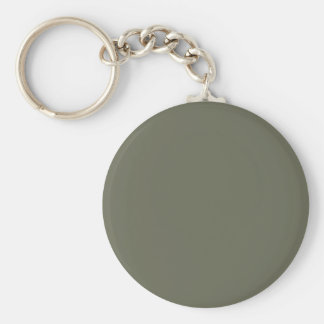 Deep Lichen Green Pattern. Fashion Color Trend Key Ring