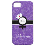 Deep Lilac+Female Sign+Nurse Cap/Name iPhone 5 Cover