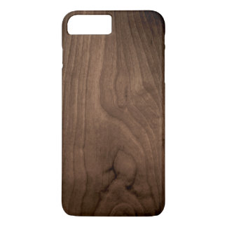 Deep Mahogany Wood Grain iPhone 7 Case