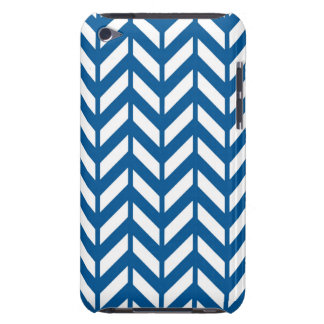 Deep Ocean Chevron 4 Barely There iPod Cover