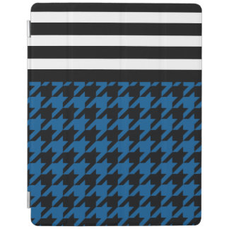 Deep Ocean Houndstooth w/ Stripes 2 iPad Cover