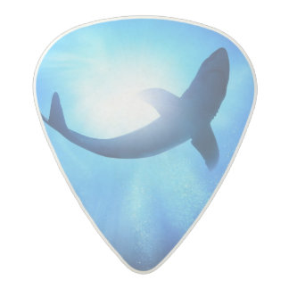 Deep Ocean Shark Silhouette Acetal Guitar Pick